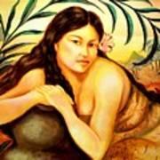 Hawaiian Girl Art Print