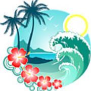 Hawaiian Island 2 Art Print
