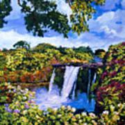 Hawaiian Paradise Falls Art Print by David Lloyd Glover