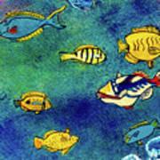 Hawaiian Reef  Fish #223 Art Print