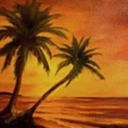 Hawaiian Sunset #380 Art Print