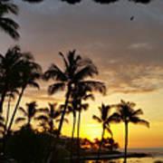 Hawaiian Sunset Design Art Print