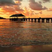 Hawaiian Sunset Hanalei Bay 1 Art Print