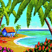 Hawaiian Tropical Beach  #364 Art Print