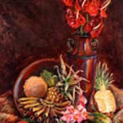 Hawaiian Tropical Fruit Still Life Art Print