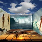 Hawaiian Zen Room Art Print