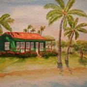 Hawaiin Cottage Art Print