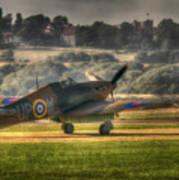 Hawker Hurricane Mk 1 R4118 Takeoff Art Print