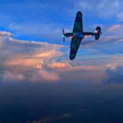 Hawker Hurricane On Dawn Patrol Art Print