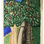 Hawkesbury's River-train. Art Print