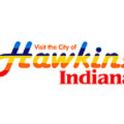 Hawkins Badge Art Print