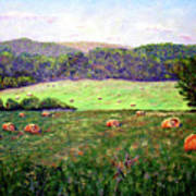 Hay Field Art Print