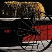 Hay On Wheels Art Print