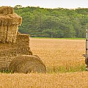 Hay Tractor Art Print