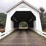 Hayden Bridge Covered Bridge Art Print