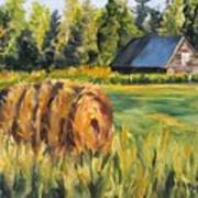 Hayroll And Barn Art Print