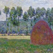 Haystack At Giverny, 1885 Art Print