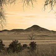 Haystack Mountain - Boulder County Colorado - Sepia Evening Art Print
