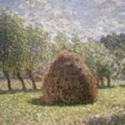 Haystacks At Giverny Art Print