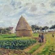 Haystacks Print by Camille Pissarro