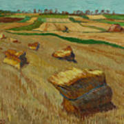 Haystacks In Moravia Art Print