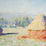 Haystacks In The Sun Art Print