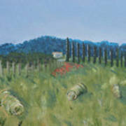 Haystacks Art Print