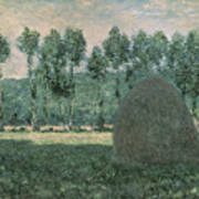 Haystacks Near Giverny Art Print