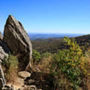 Hazel Mountain Overlook On Skyline Drive In Shenandoah National Park Art Print