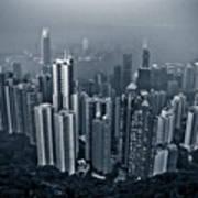 Hazy Hong Kong Art Print