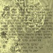 Hbrew Prayer For The Mikvah- Prayer Of The Woman For Her Husband Art Print