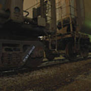 Hdr Rail Cars Art Print