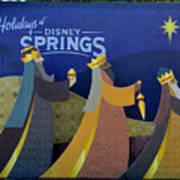 Three Wise Men Disney Springs Art Print
