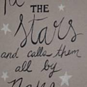 He Counts The Stars Art Print