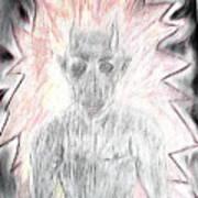 He Flame Art Print
