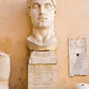 Head From The Statue Of Constantine, Rome, Italy Art Print