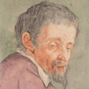 Head Of A Man With A Short Beard Art Print