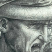 Head Of A Warrior, Copy Of A Detail From The Battle Of Anghiari Art Print