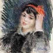 Head Of A Young Woman - 1878 -1880 Pierre-auguste Renoir Art Print