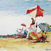 Head  Of The Meadow Beach, Afternoon Art Print