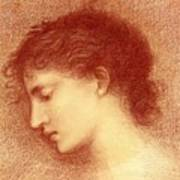 Head Study Of Maria Zambaco The Wine Of Circe Art Print
