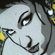 Headshot Of A Young Woman Art Print