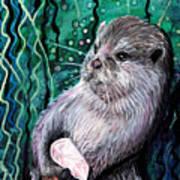 Healing Otter Art Print