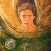 Healing With The Golden Light Art Print