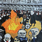 Hear No Evil See No Evil Judicial Abuse Art Print
