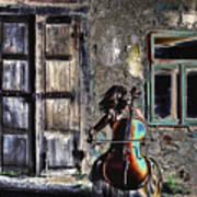 Hear The Cello Sing Art Print