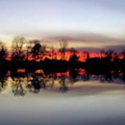 Hearns Pond Silhouette Art Print