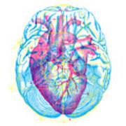 Heart Brain Art Print