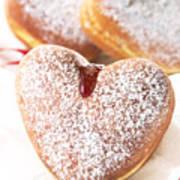 Heart Donuts Art Print
