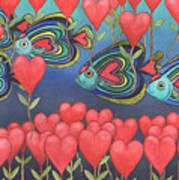 Heart Fish Art Print
